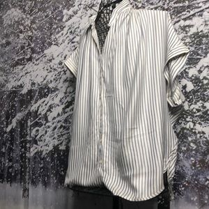 Madewell pinstriped button down shirt